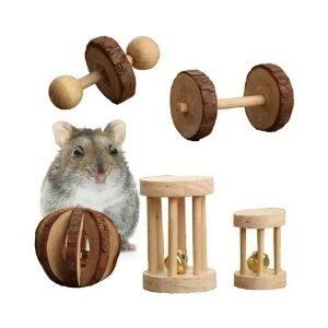 Pevor Pack of 5 Hamster Toys (Chewable )